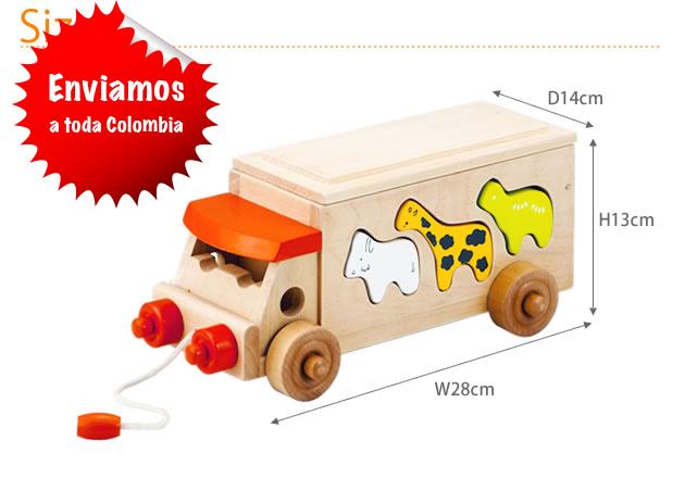 Camioncito de juguete con laberinto
