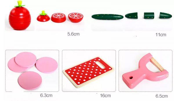 Medidas de las frutas de juguete