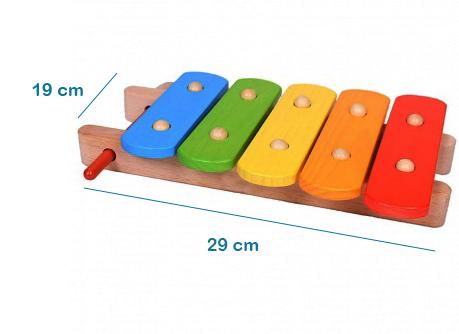 Xilófono para bebés en madera