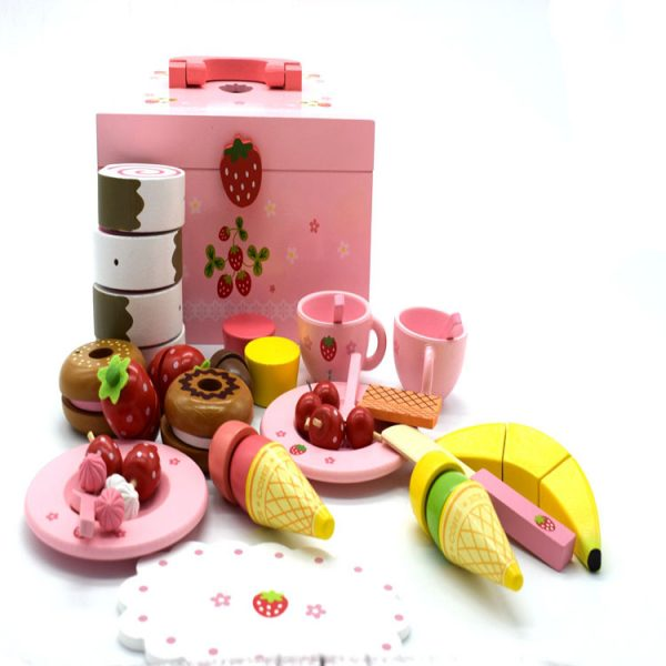 Juego de té y platos de juguete para niñas