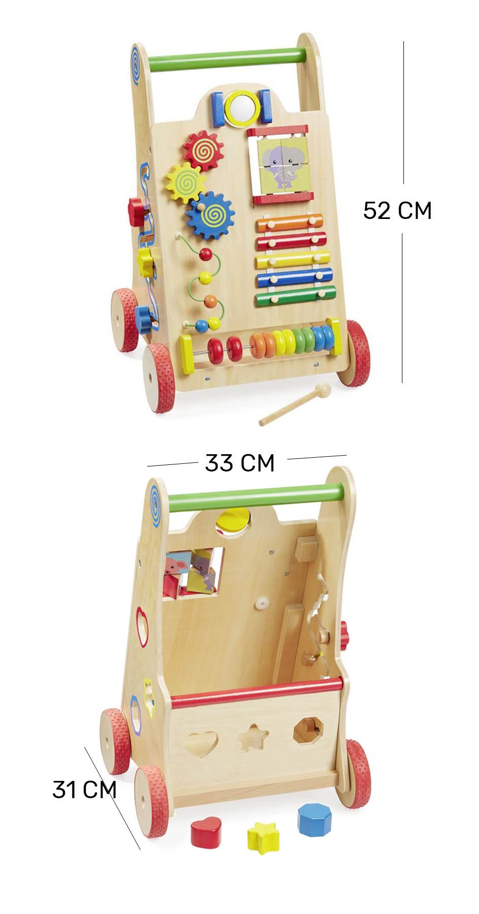 Caminador y andadera para bebé con juegos educativos