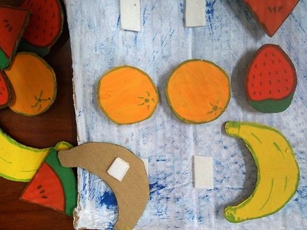 Aprendiendo a contar con frutas