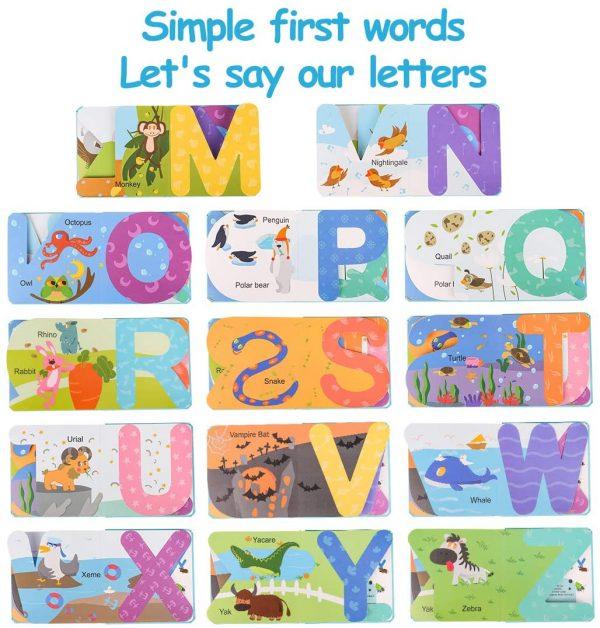 Paginas libro en inglés para niños ABC