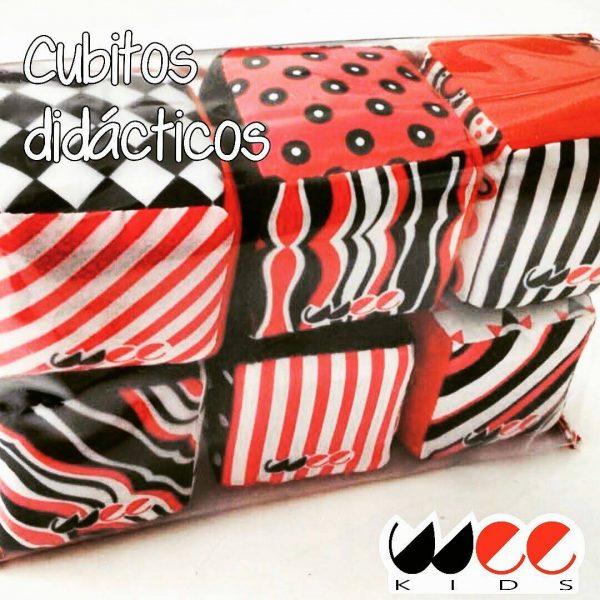 Cubos blanco rojo y negro bebes