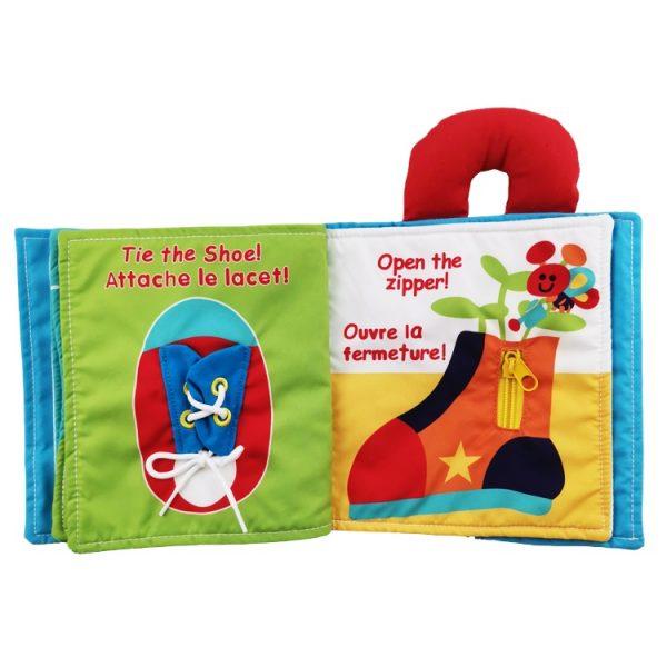 Libro de tela para aprender a amarrar cordones