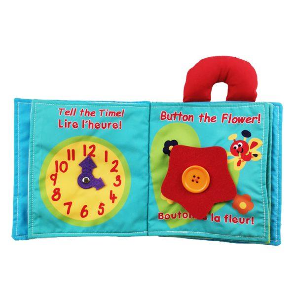 Aprende la hora con libro de tela para bebés
