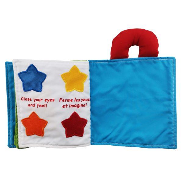 Libro de tela para bebés con texturas