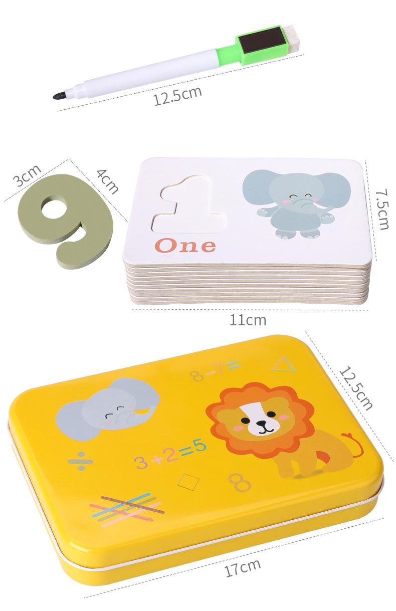 Flash cards de números para enseñar suma y resta